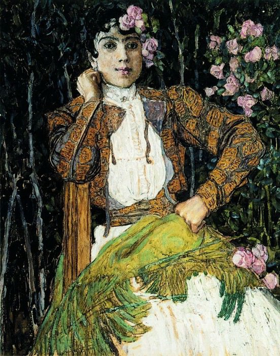 Испанка в зеленом. 1906–1907. Alexander Golovin