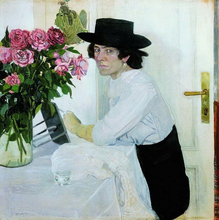 Женщина в шляпе. Середина 1910-х. Александр Яковлевич Головин