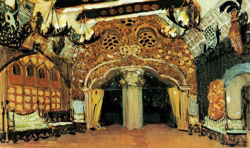 Эскиз декорации к балету П.И. Чайковского Лебединое озеро. 1901. Alexander Golovin
