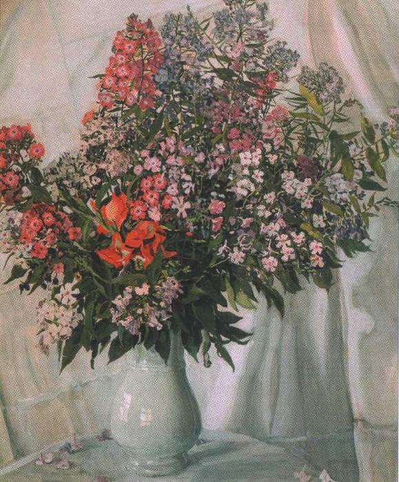 Натюрморт. Флоксы. 1911. Alexander Golovin