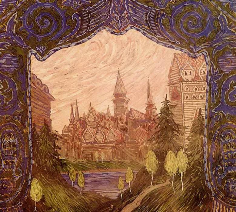 Эскиз декорации к спектаклю Волшебное зеркало. 1905. Alexander Golovin