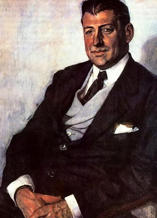 Портрет Ю.М.Юрьева. 1923. Alexander Golovin