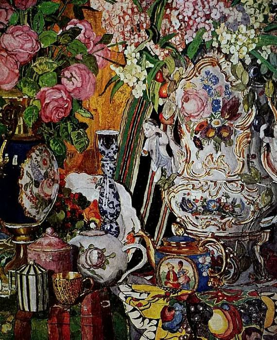 Натюрморт. Фарфор и цветы. 1915. Alexander Golovin