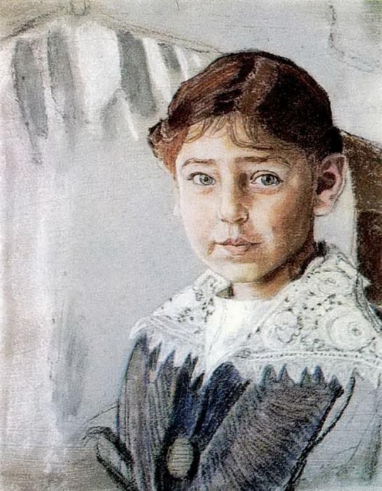 Портрет Оли Рыбаковой. 1920. Александр Яковлевич Головин