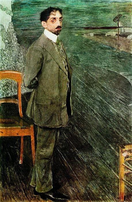 Портрет поэта и композитора Михаила Александровича Кузмина. 1910. Alexander Golovin
