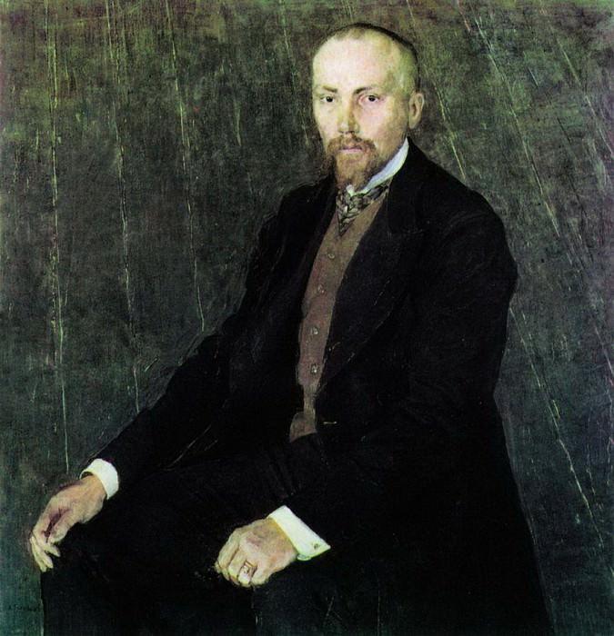Портрет художника Николая Константиновича Рериха. 1907. Alexander Golovin
