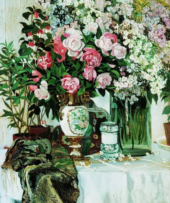 Розы и фарфор. 1910-е. Alexander Golovin