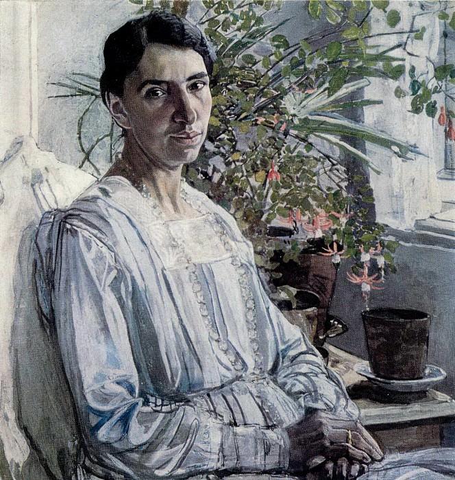 Портрет Л.Я.Рыбаковой. 1920. Александр Яковлевич Головин