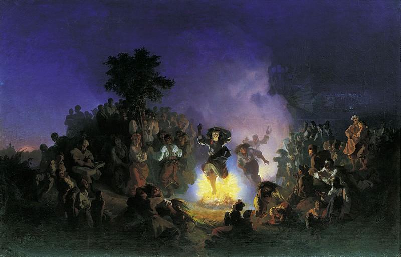 Ночь на Ивана Купалу Холст масло. Ivan Sokolov