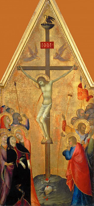 Attributed to Lippo Memmi -- Crucifixion. Part 5 Louvre