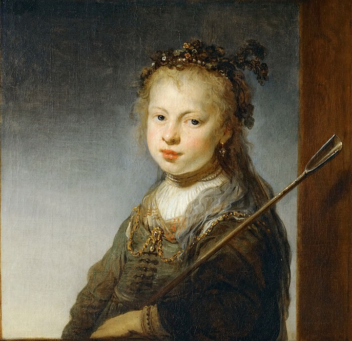 Govaert Flinck -- Young Woman as a Shepherdess. Part 5 Louvre