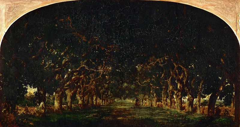 Théodore Rousseau (1812-1867) -- Avenue of Chestnut Trees at the Château de Souliers, near Bressuire. Part 5 Louvre