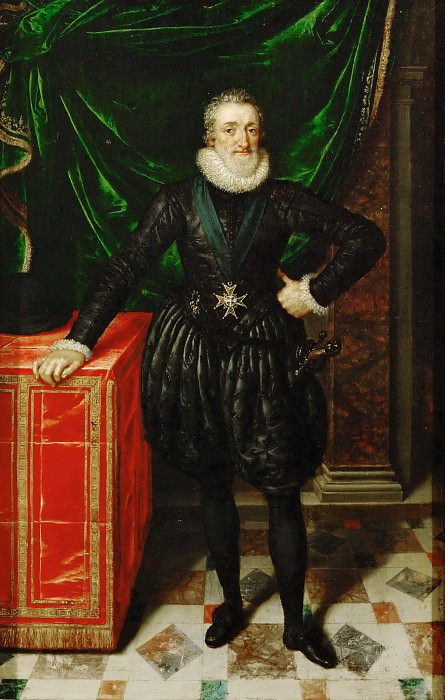 Frans Pourbus the Younger (1569-1622) -- Henri IV, King of France (1553-1610). Part 5 Louvre