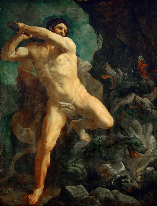 Hercules Killing the Hydra of Lerna. Guido Reni