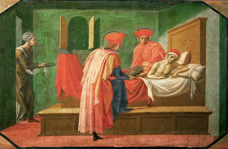 Francesco Pesellino (c. 1422-1457) -- Saints Cosmas and Damian Treating a Sick Man. Part 5 Louvre