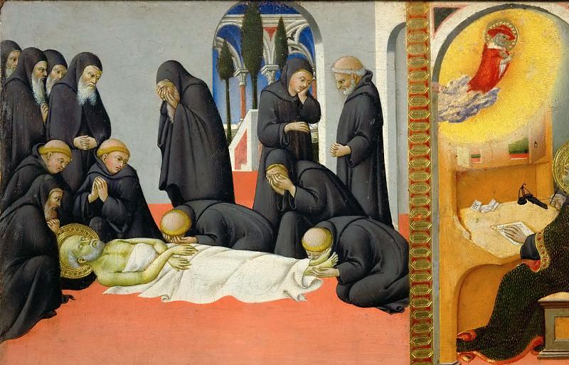 Sano di Pietro (1405-1481) -- Death of Saint Jerome. Part 5 Louvre