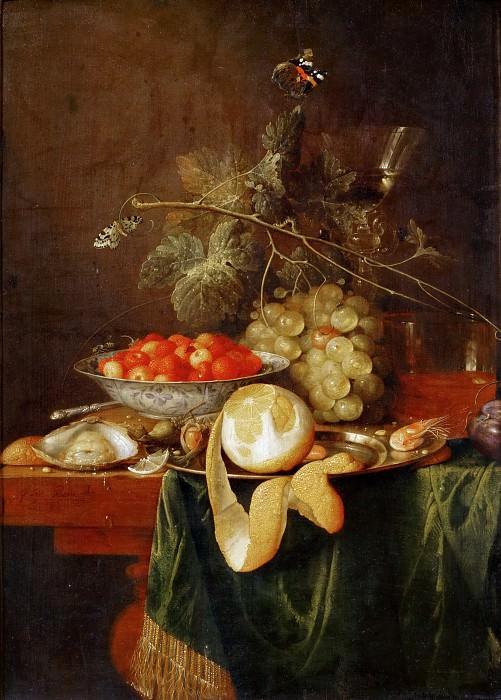 Jan Davidsz. de Heem (1606-1683 or 1684) -- Still Life with Peeled Lemon. Part 5 Louvre