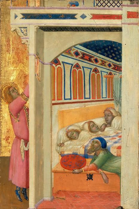Ambrogio Lorenzetti -- Charity of Saint Nicolas of Bari. Part 5 Louvre