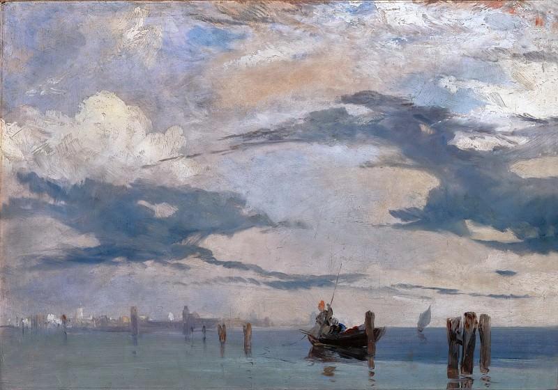 Richard Parkes Bonington (1802-1828) -- The Lagoon of Venice. Part 5 Louvre