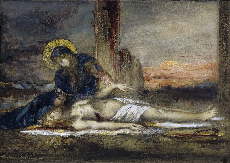 Gustave Moreau -- Virgin of Pity. Part 5 Louvre