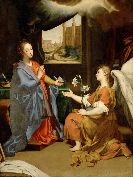 Sassoferrato (1609-1685) -- Annunciation. Part 5 Louvre