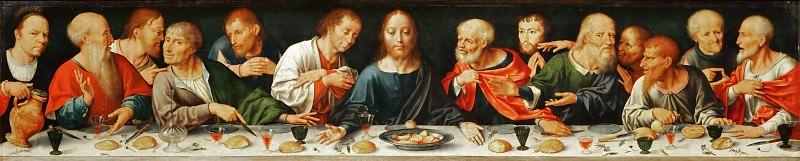 Joos van Cleve -- Retable of the Deposition, detail; predella, Last Supper. Part 5 Louvre