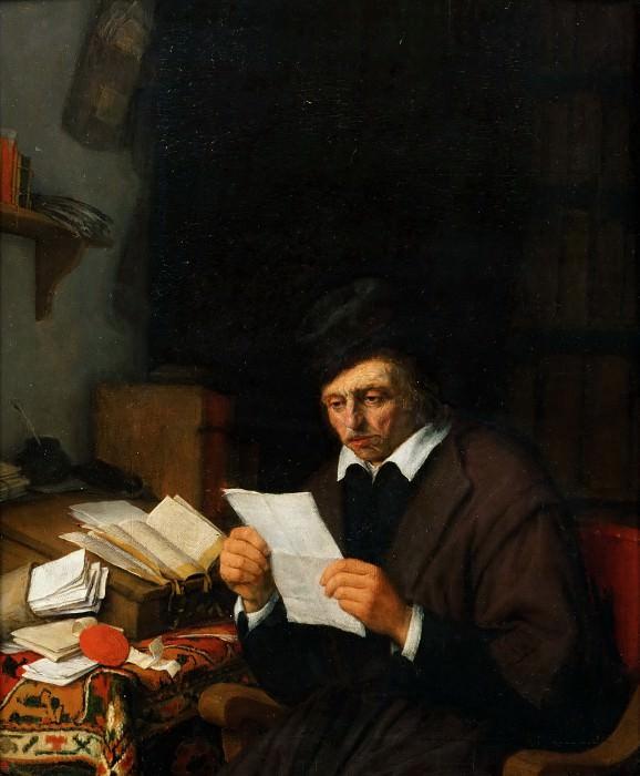 Остаде, Адриан Янс ван (Харлем 1610-1685) -- Торговец в своей конторе. часть 5 Лувр