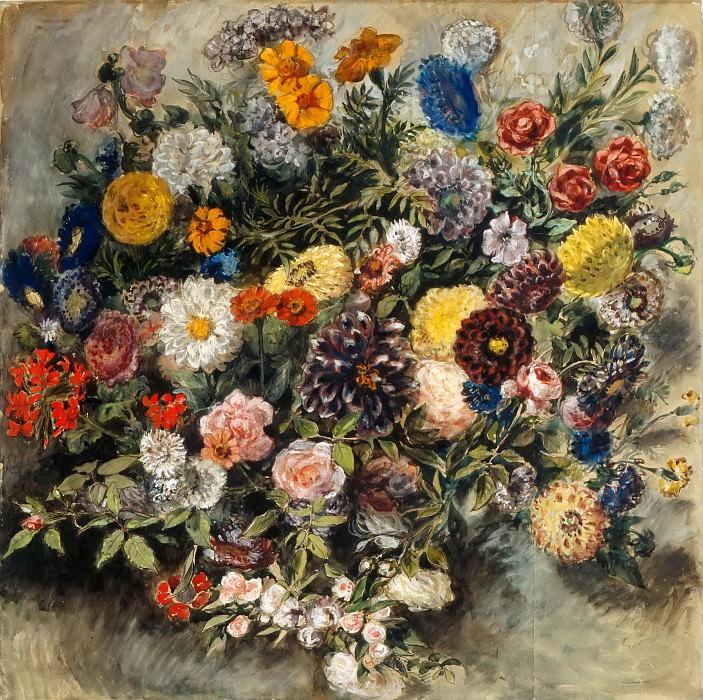 Делакруа, Эжен (1798 Шарантон-Сен-Морис - 1863 Париж) -- Букет цветов. Part 5 Louvre