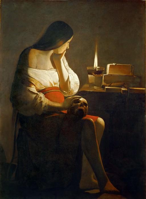 Georges de la Tour -- Penitent Magdalen. Part 5 Louvre