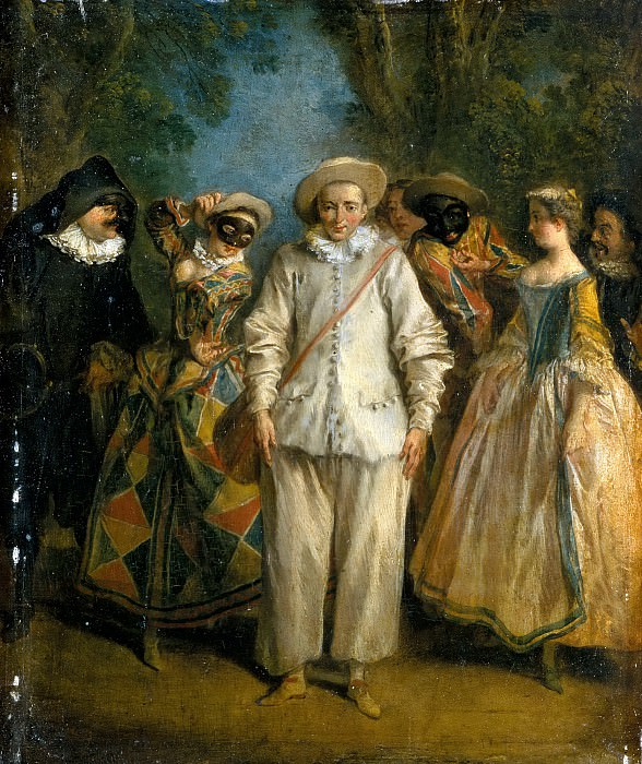 Nicolas Lancret -- Italian Comedians (Actors of the Comédie Italienne). Part 5 Louvre