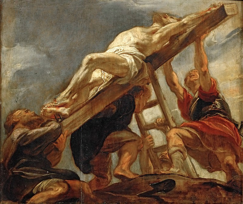 The Raising of the Cross. Peter Paul Rubens