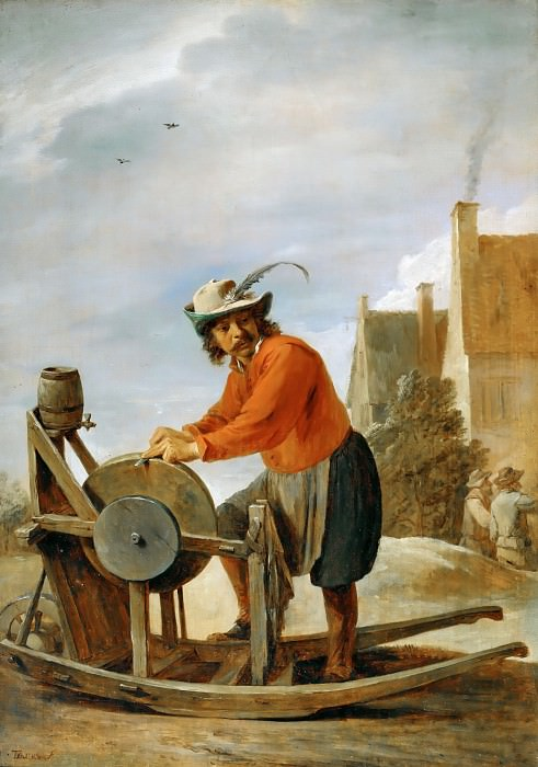 David Teniers II -- The Knife-grinder. Part 5 Louvre
