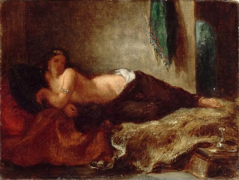 Eugène Delacroix -- Odalisque. Part 5 Louvre