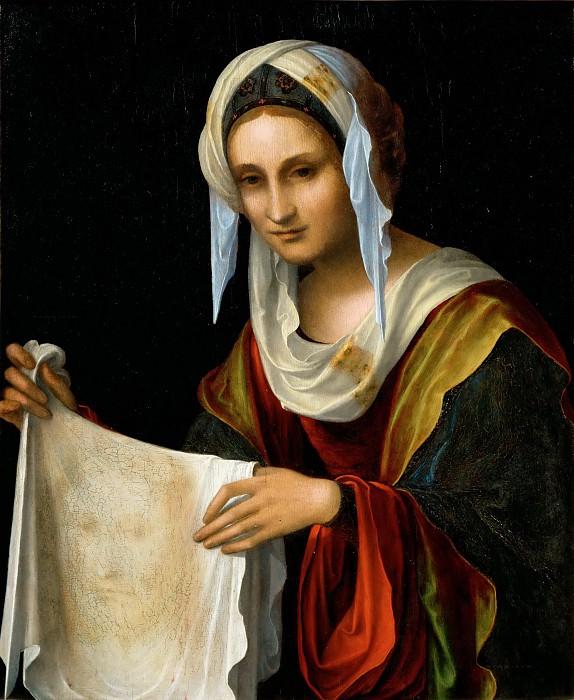 Lorenzo di Ottavio Costa -- Saint Veronica. Part 5 Louvre