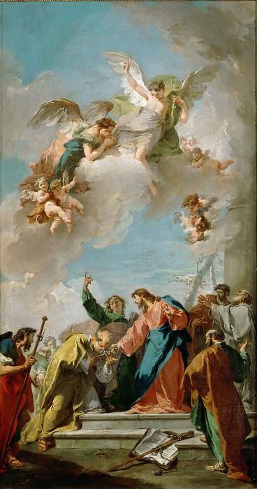 Питтони, Джованни Баттиста (Венеция 1687-1767) -- Христос вручает святому Петру ключи от рая. часть 5 Лувр