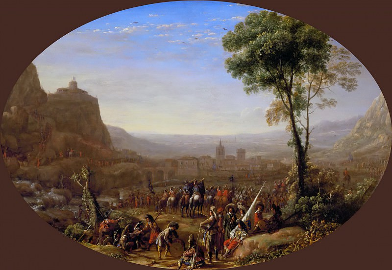 Claude Lorrain -- Louis XIII takes the pass at Suse in 1629. Part 5 Louvre