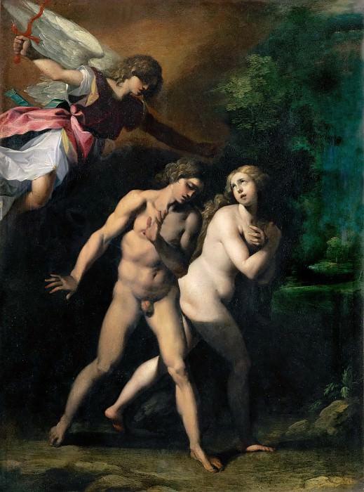 Giuseppe Cesari, called Cavalier d'Arpino (1568-1640) -- Expulsion from Eden. Part 5 Louvre