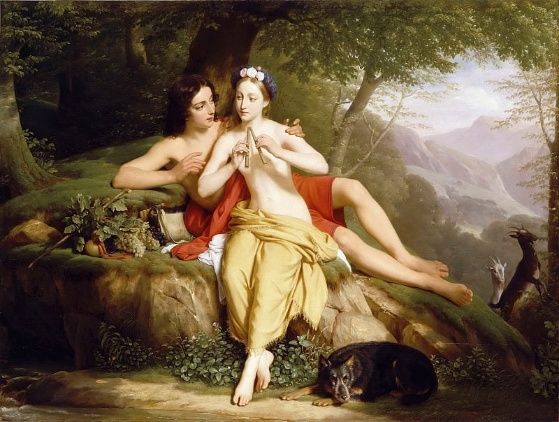 Louis Hersent -- Daphnis and Chloe. Part 5 Louvre