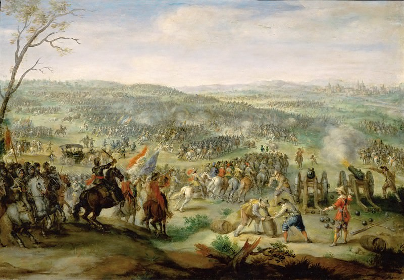 Peeter Snayers -- Representation presumably of the Battle of the White Mountain near Prague. Part 5 Louvre