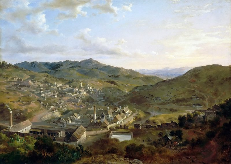 Eugenio Landesio -- View of a Mexican City. Part 5 Louvre