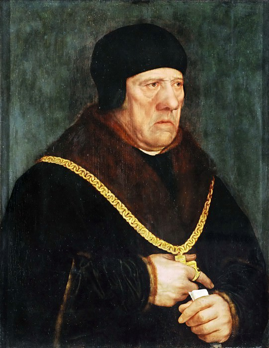 Hans Holbein the Younger (1497 or 1498-1543) -- Sir Henry Wyatt, counselor to King Henry VIII of England. Part 5 Louvre
