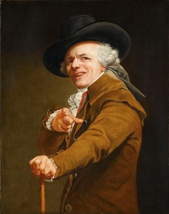 Дюкре, Жозеф (1735 Нанси - 1802 Париж) -- Автопортрет в образе шутника. часть 5 Лувр