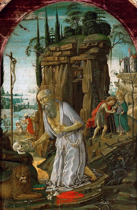 Jacopo del Sellaio (c. 1441-1493) -- Saint Jerome in the Wilderness. Part 5 Louvre