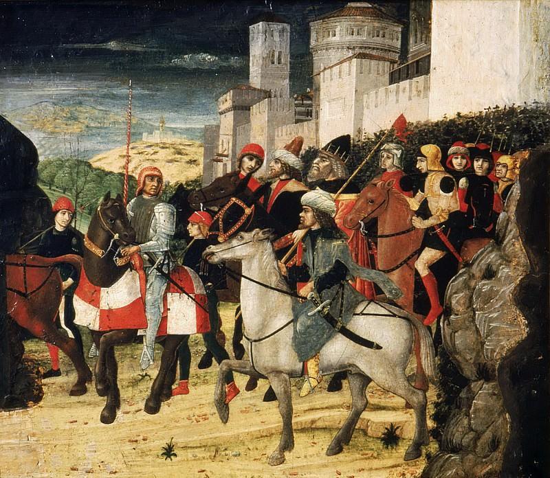 Parenzano, Bernardo, 1437-1531 -- Procession of the Magi. Part 5 Louvre