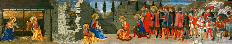 Giovanni di Francesco -- Nativity and Adoration of the Magi. Part 5 Louvre