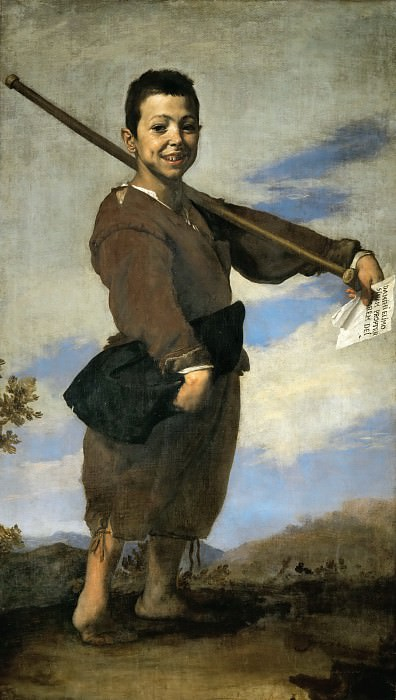 Jusepe de Ribera (1591-1652) -- The Clubfooted Boy. Part 5 Louvre