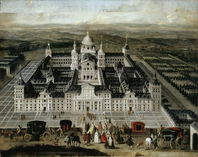 Spanish School -- View of the Escorial Palace. Part 5 Louvre