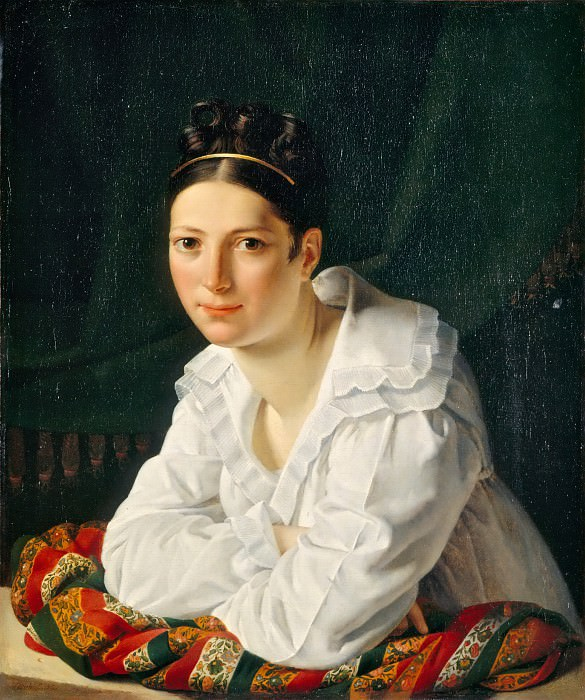 Claude-Marie Dubufe -- Portrait of Madame Claude-Marie Dubufe (Edmee-Francoise Dumenillet). Part 5 Louvre