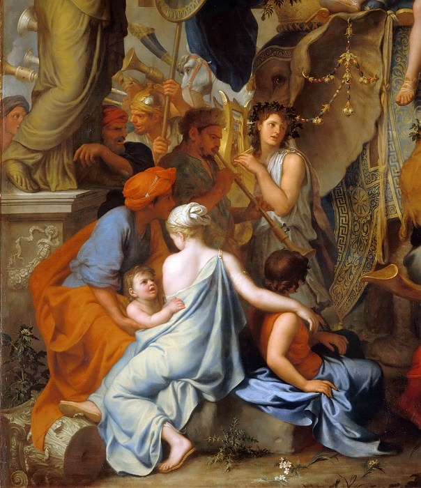 Charles Le Brun -- Entry of Alexander in Babylon (Triumph of Alexander); detail. Part 5 Louvre
