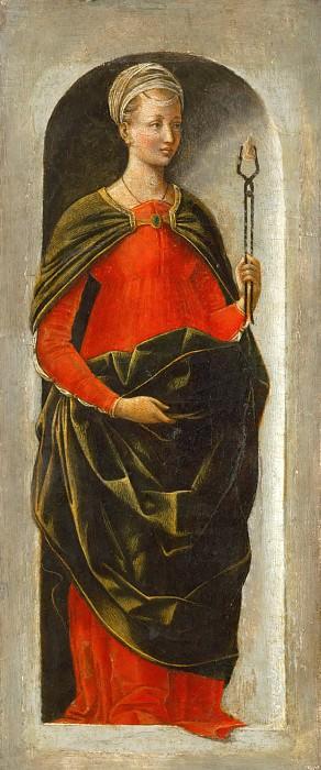 Ercole de' Roberti (c. 1455-1496) -- Saint Apollonia. Part 5 Louvre